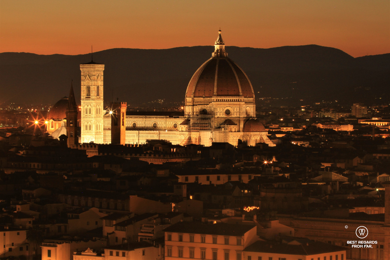 The Duomo, the cathedral of Florence by night