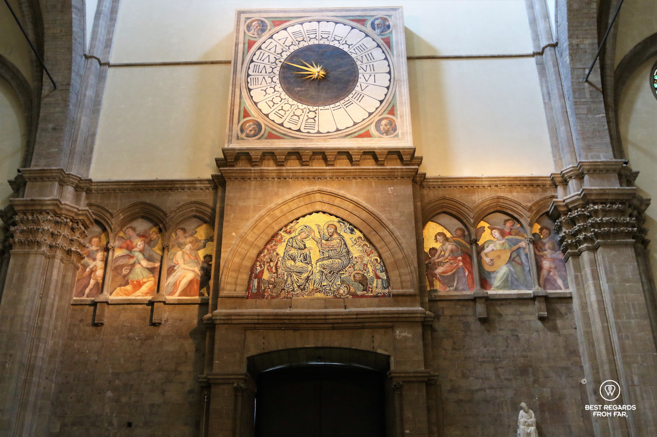 The clock in the Duomo, Florence, Italy