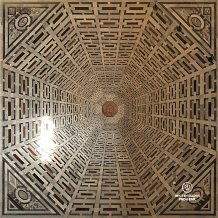 The floor of the Duomo cathedral in Florence, Italy