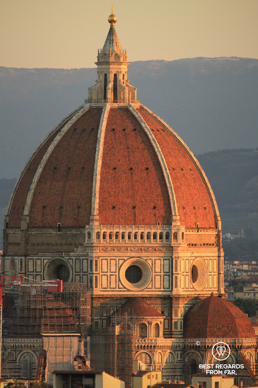 The dome of the cathedral of Florence at sunrise