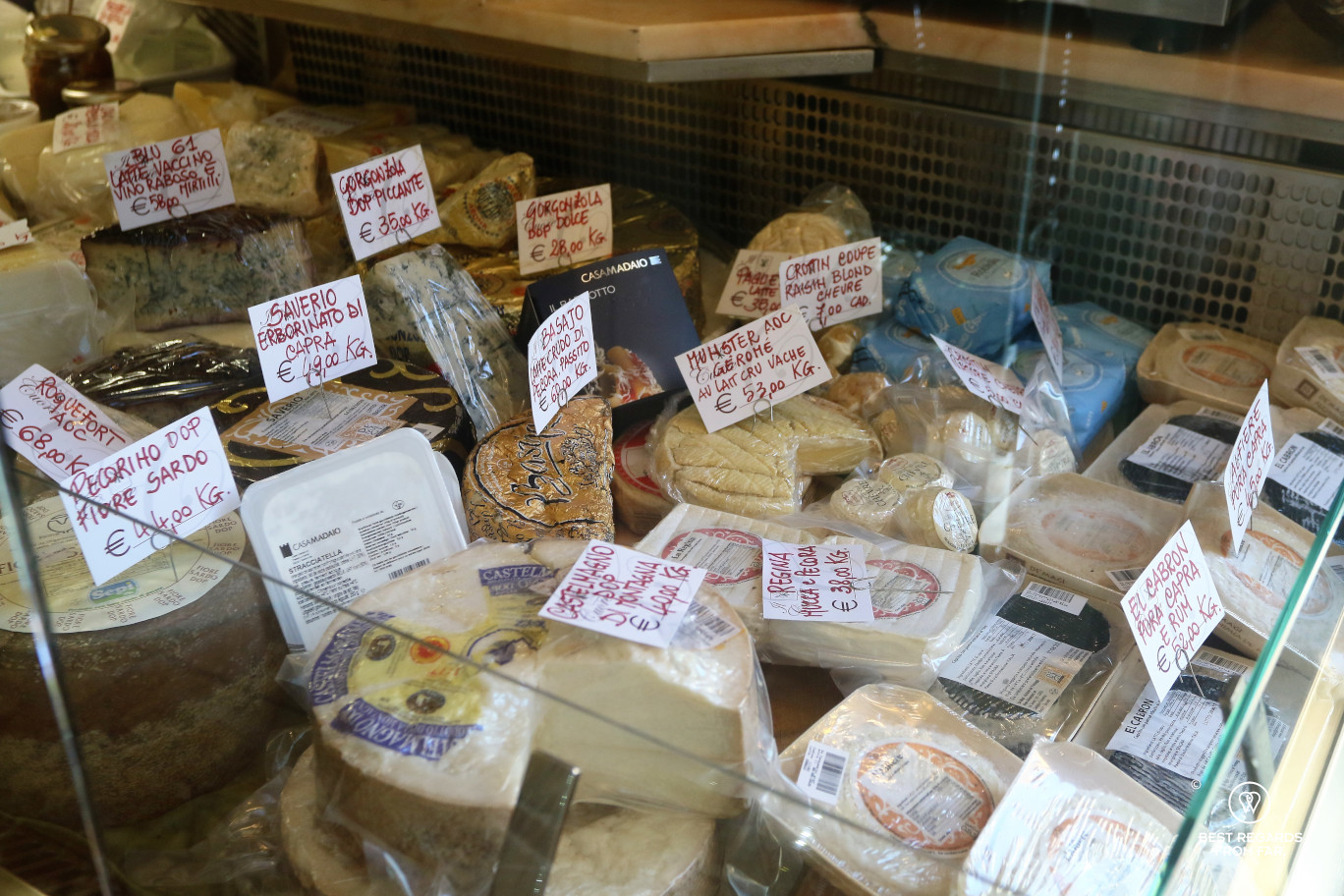 A selection of cheese in Italy