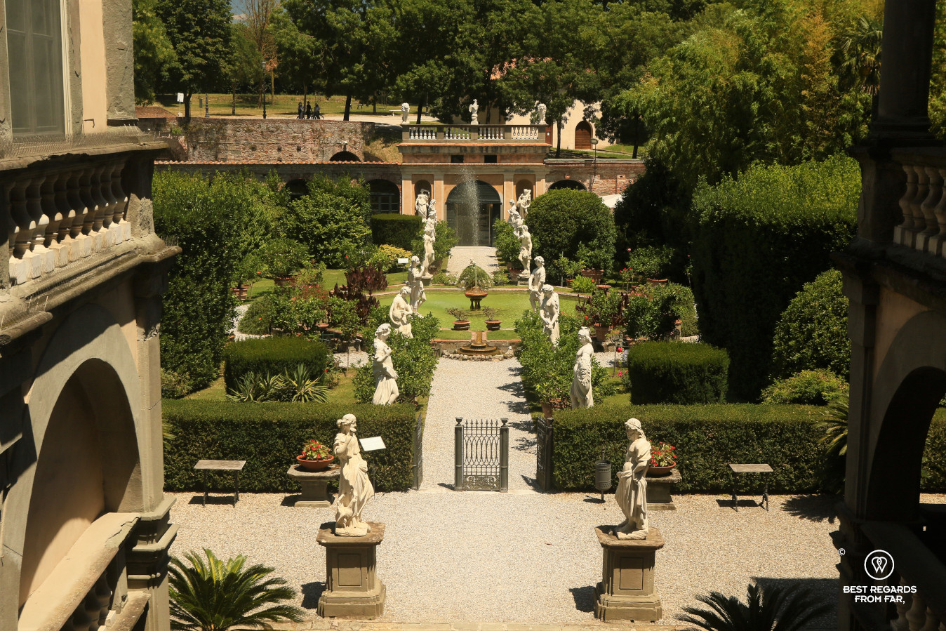 Garden of the Palazzo Pfanner, Lucca, Italy