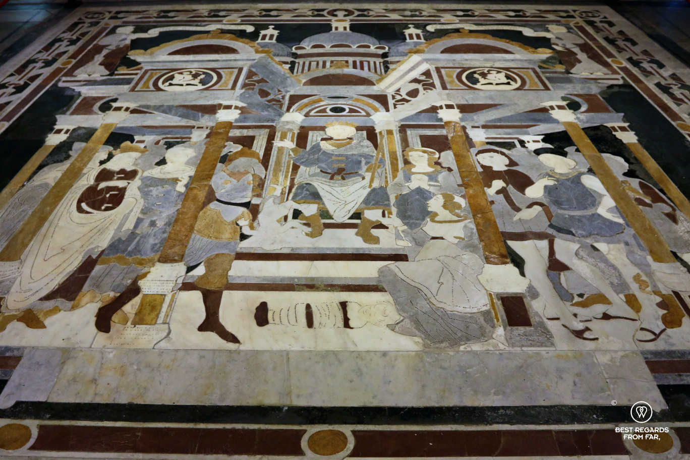 Mosaic in the Saint Marin Cathedral, Lucca, Italy