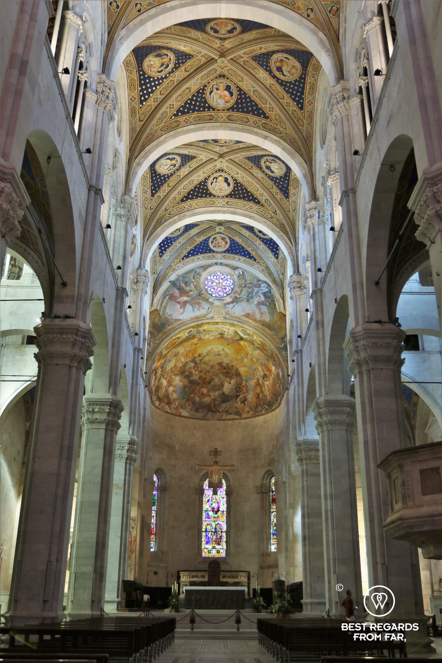 The interior of the Saint Martin Cathedral, Lucca, Italy