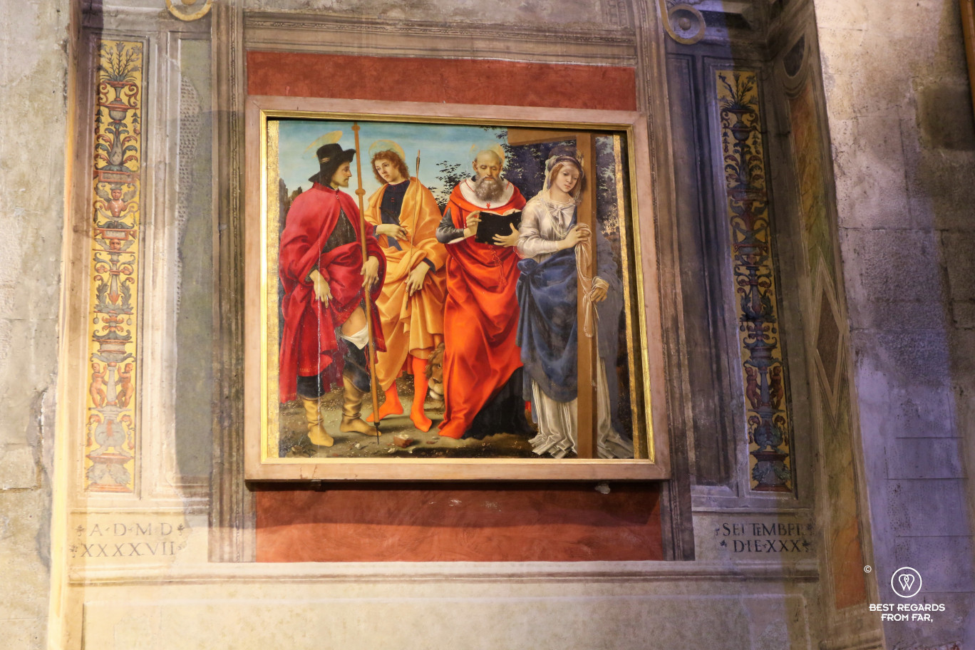 Four Saints by Filippino Lippi in the San Michele in Foro church, Lucca, Italy
