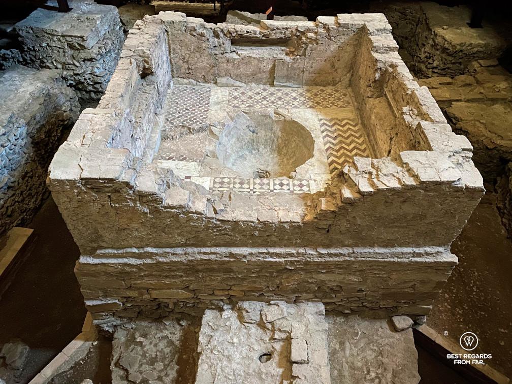 Roman leftovers in the Santi Giovanni e Reparata church, Lucca, Italy