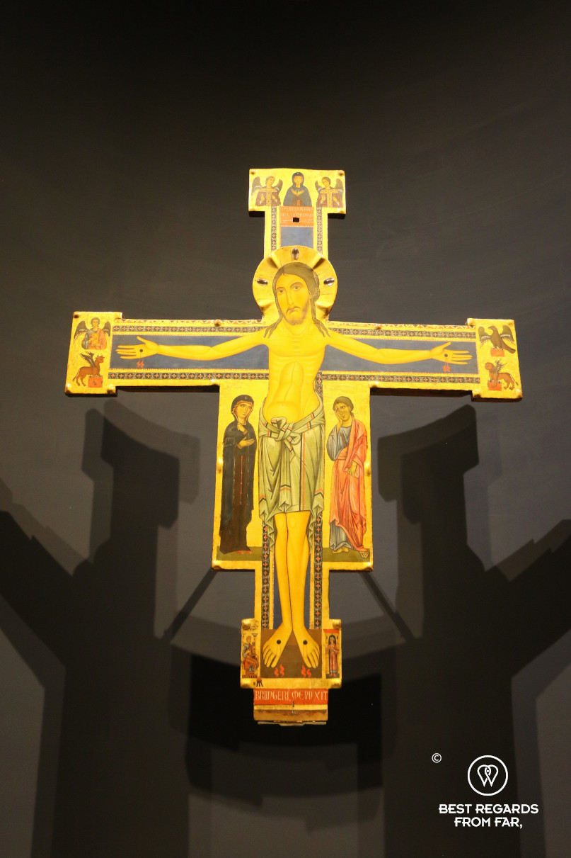 Medieval crucifix of the Christ