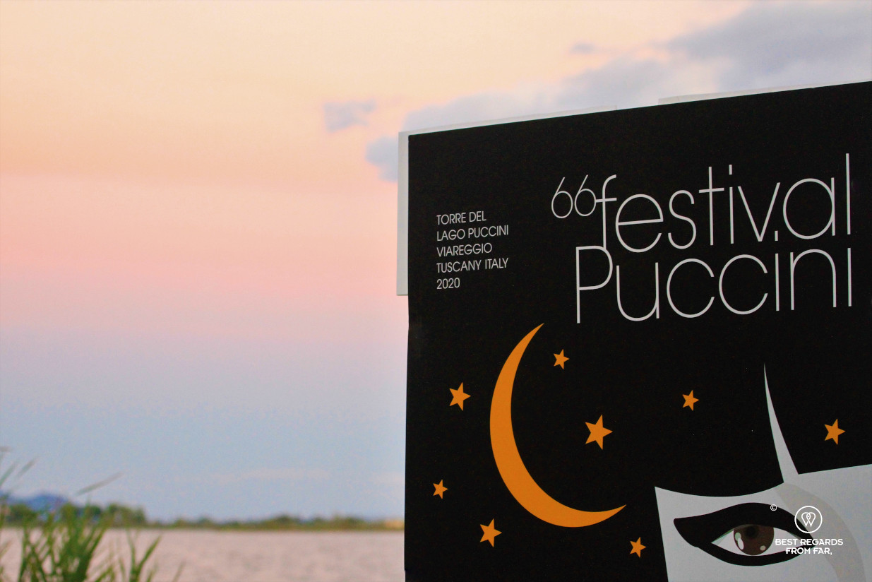 Puccini festival in Torre del Lago by the lake, Lucca, Italy