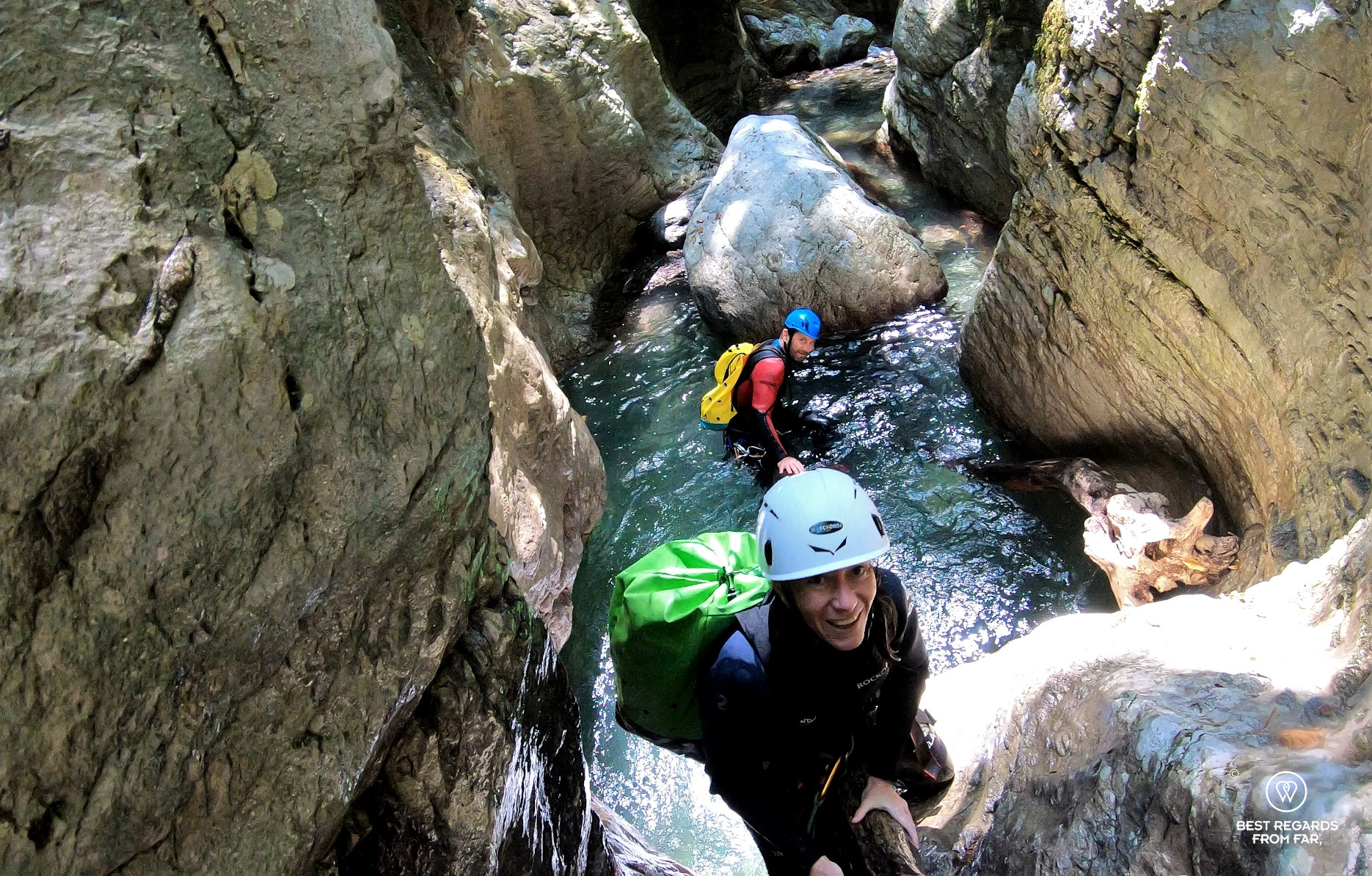 Canyoning Rio Selvano by Bagni di Lucca, Italy.