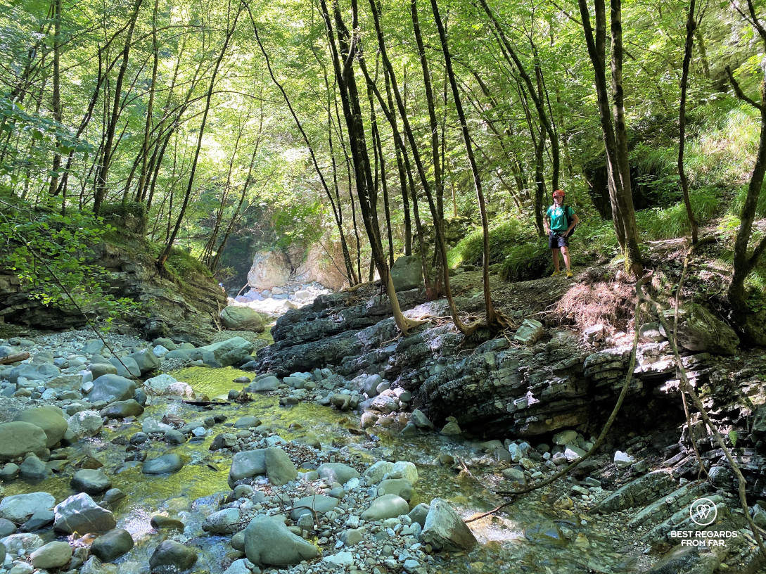 Hiking the Pelago Canyon by Bagni di Lucca, Italy.
