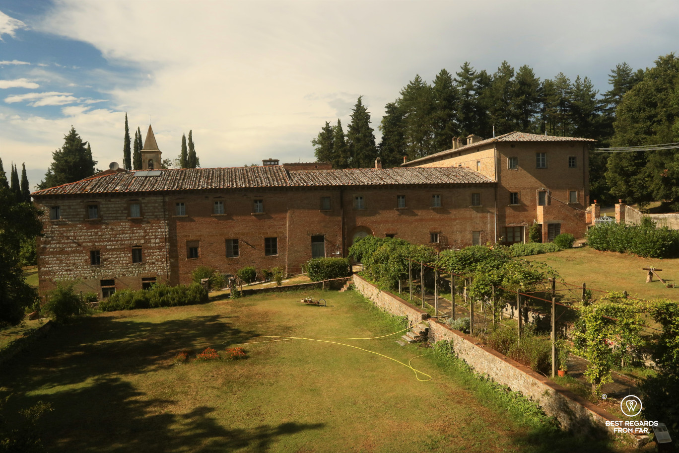The monastery of San Vivaldo, Tuscany and its garden.