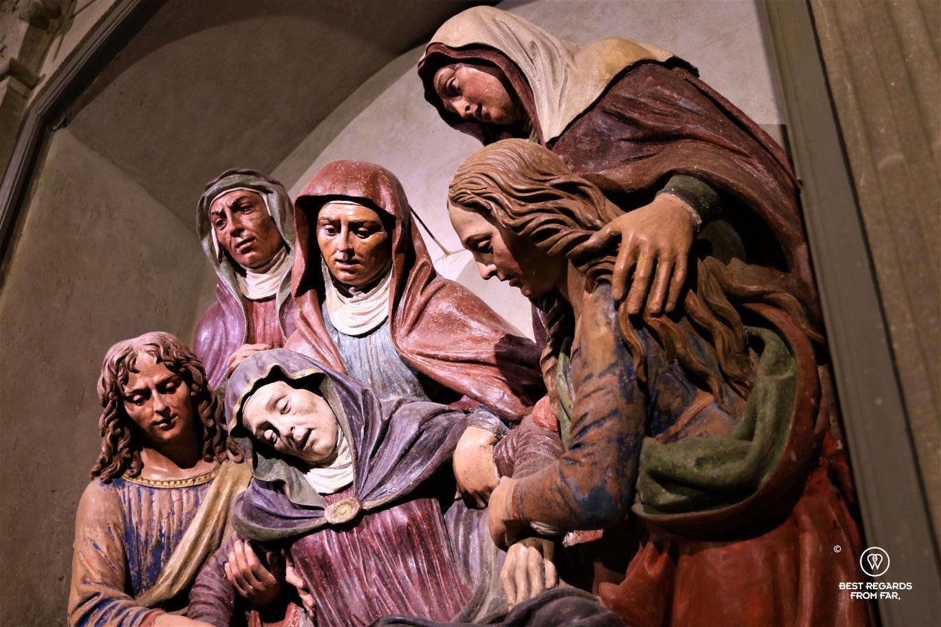 The Lady of Pain terracotta by Giovanni della Robbia's school (1516), San Vivaldo, Tuscany.