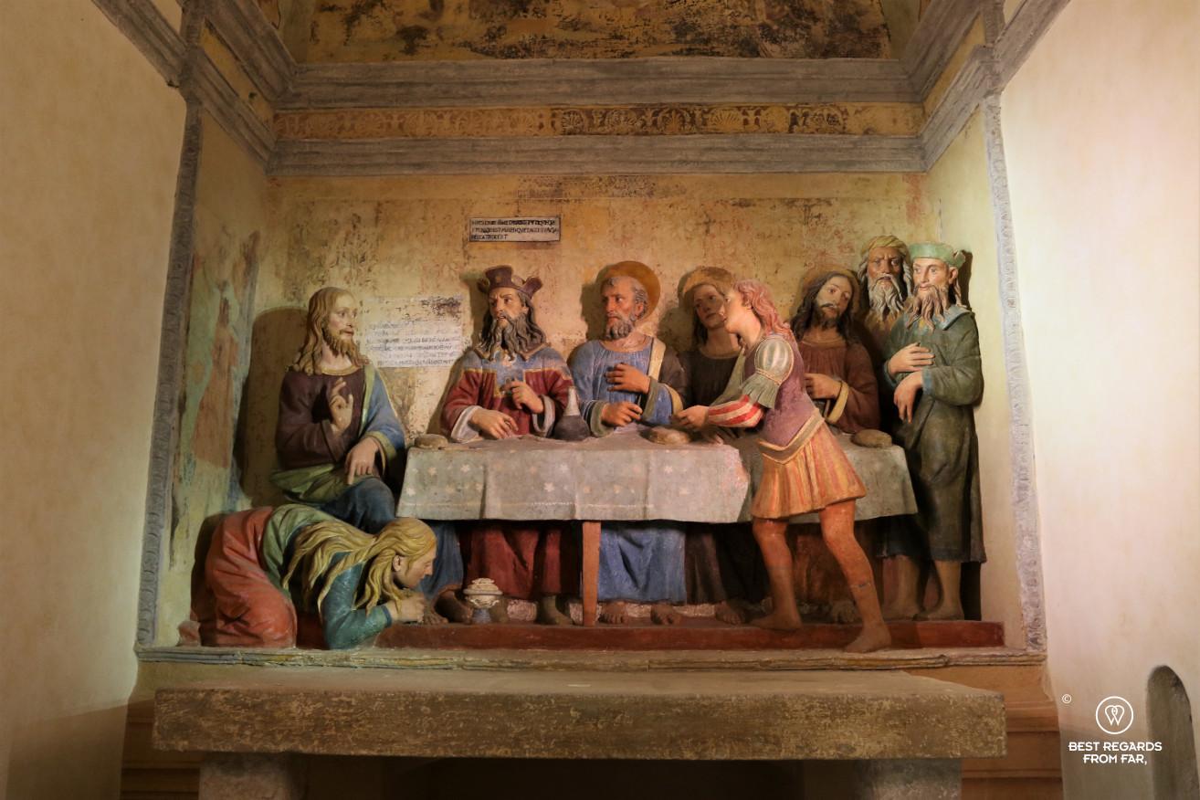 Terracotta: Simon the Pharisee's house (mid 16th century), San Vivaldo, Tuscany, Italy