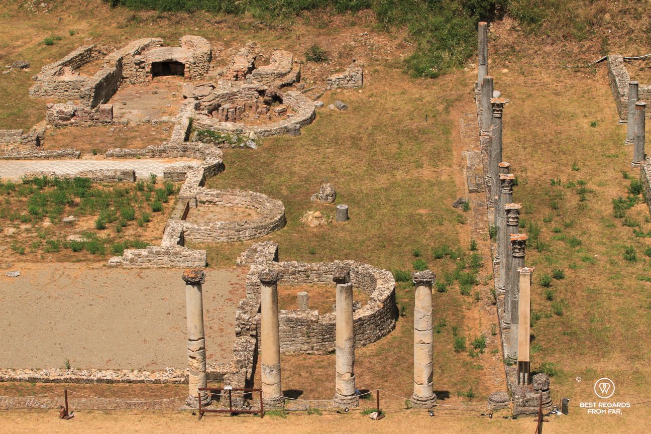 The Roman ruins in Volterra, Tuscany, Italy