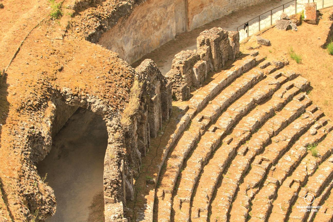 The Roman Theater in Volterra, Tuscany, Italy