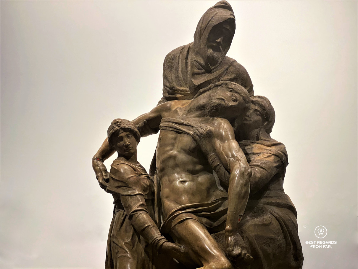 Statue of La Pieta by Michelangelo, the Duomo Museum, Florence, Italy