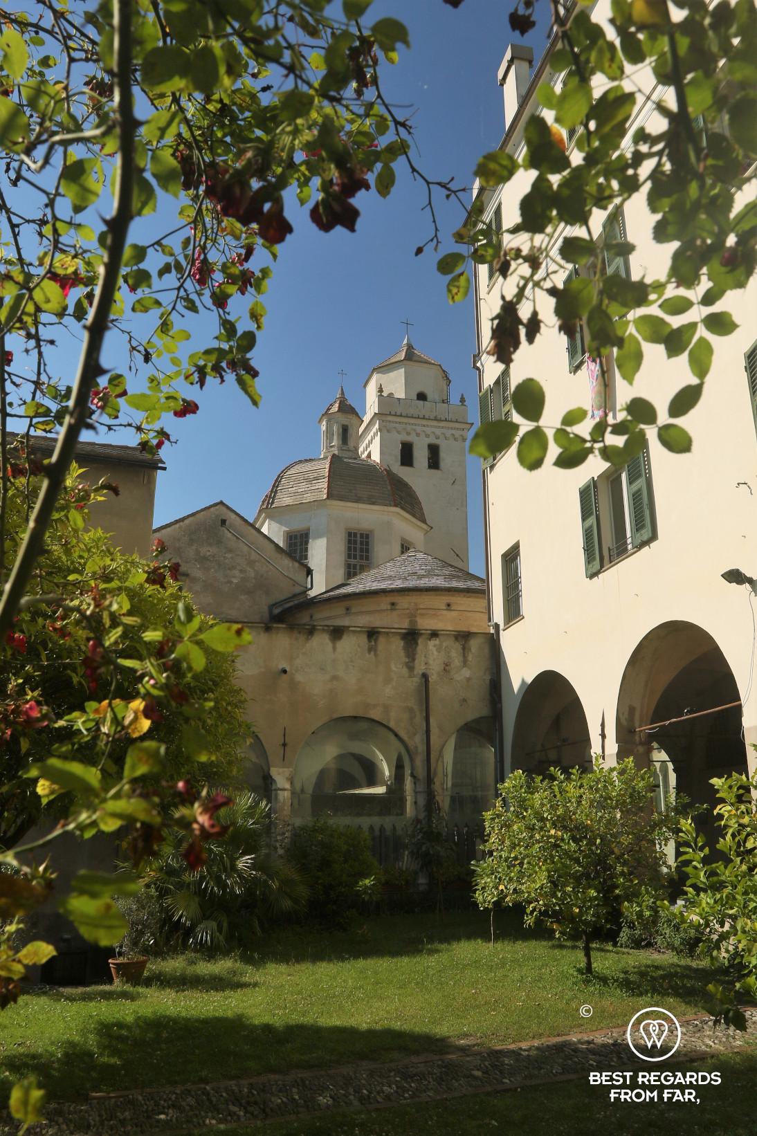 Garden of the Chiesa di Santa Maria di Castello, Genoa, Ligurai, Italy