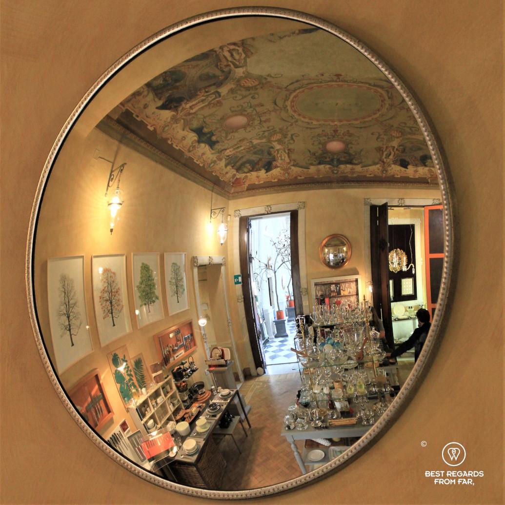 Palazzo Baldassarre Lomellini liftyle store on Via Garibaldi, Genoa, Liguria, Italy