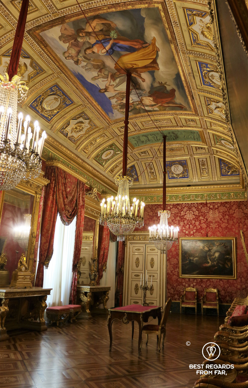 The audience room of the Palazzo Reale, Genoa, Italy