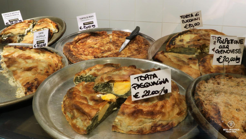 Mercado Orientale, Ligurian specialties, Genoa, Liguria, Italy