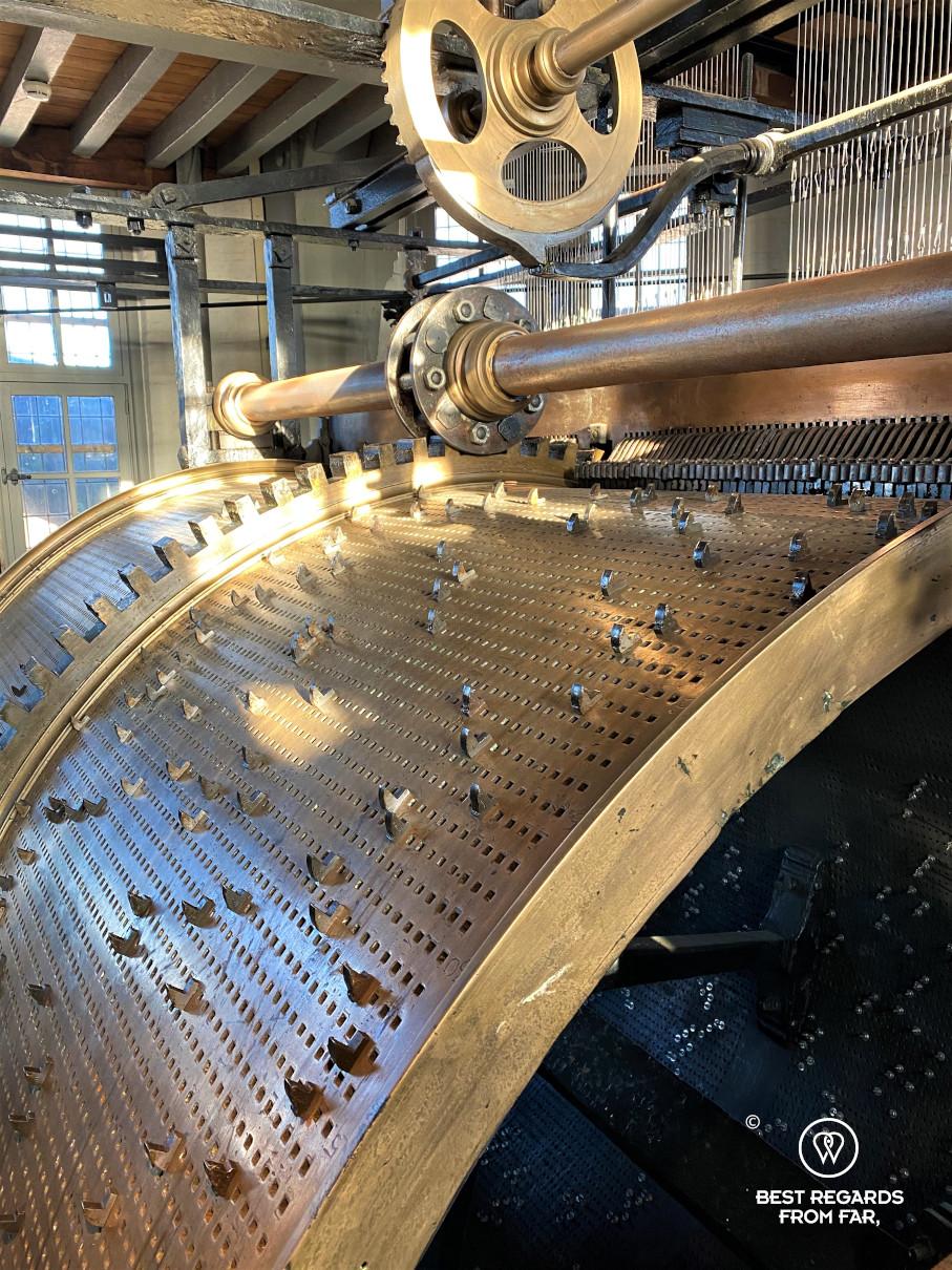 Carillon mechanism of the Belfry of Bruges, Belgium