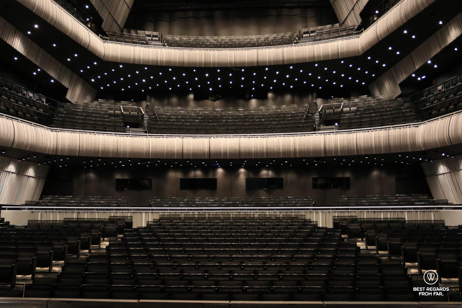The concert hall of the Concertgebouw, Bruges, Belgium.