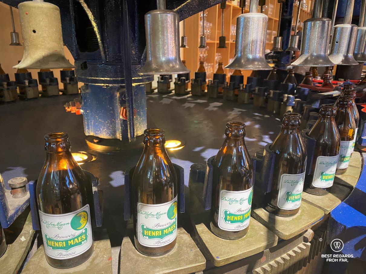 Bottling at De Halve Maan brewery, Bruges, Belgium.