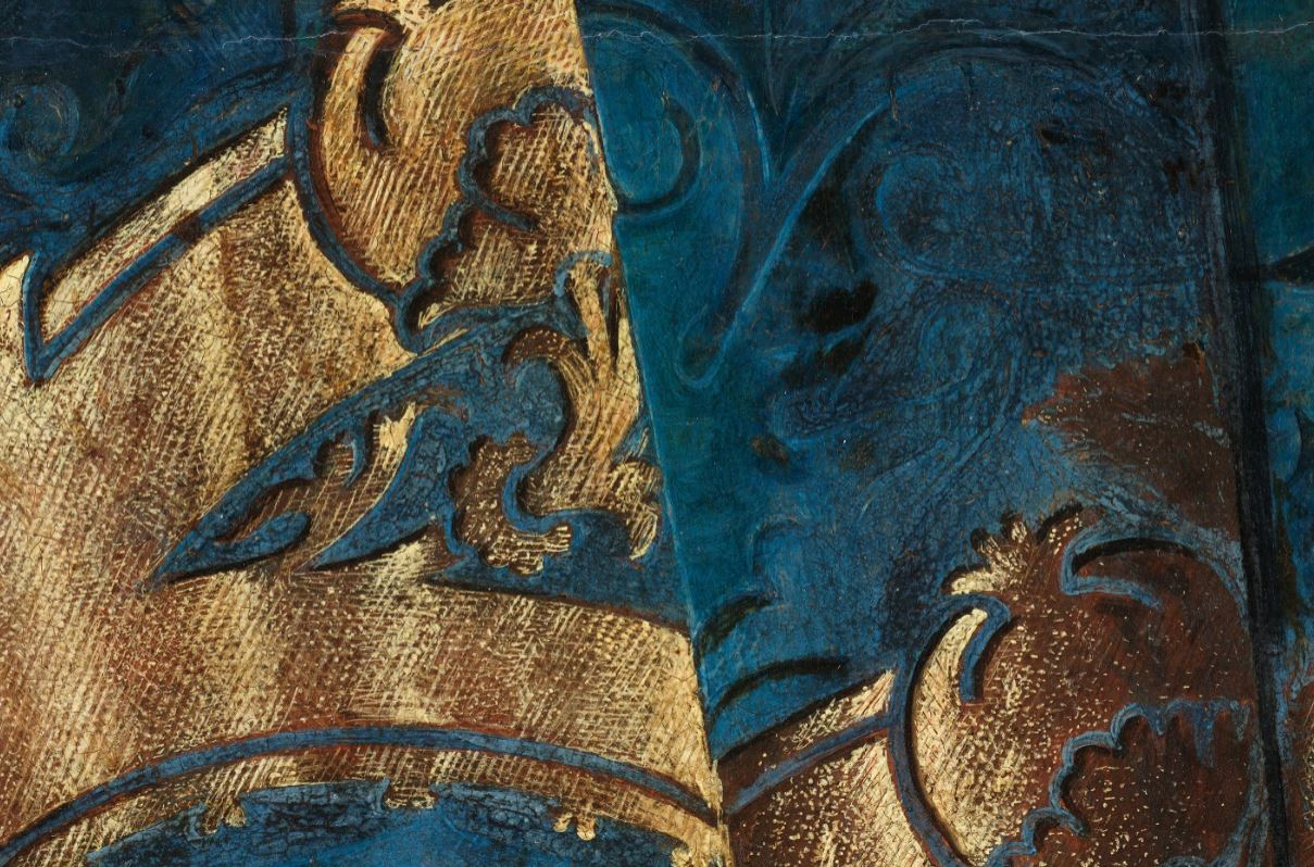 Detail of the Madonna and Child with Canon van der Paele painting by Jan van Eyck