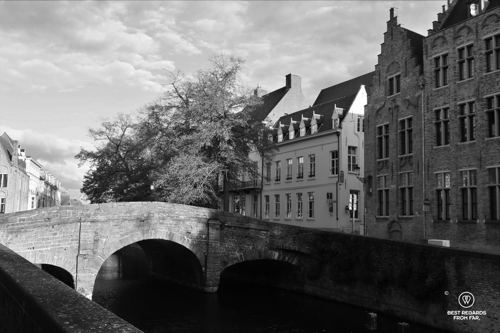 Haunted house along a canal in Bruges