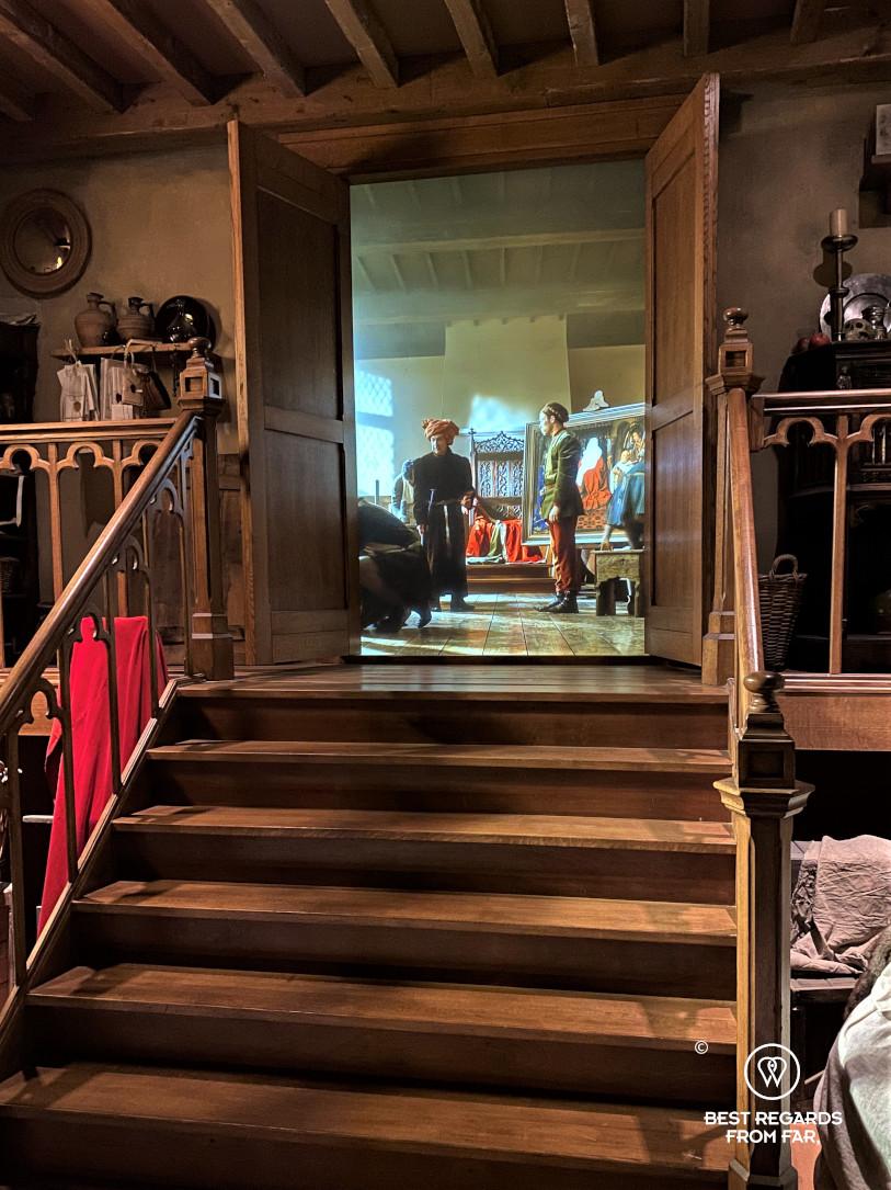 Historium: following Van Eyck in augmented reality, Bruges, Belgium