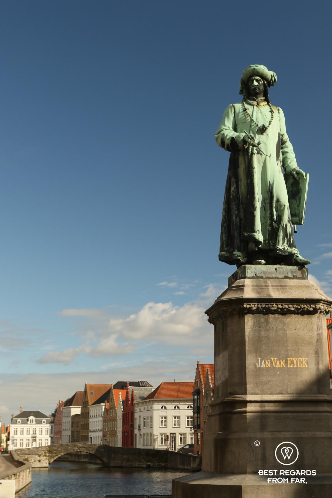 Statue of Jan Van Eyck, Bruges, Belgium