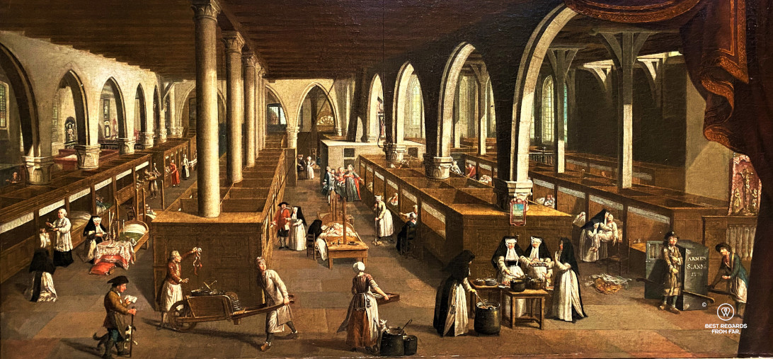 View of the ward of the Saint John's Hospital by Jan Beerblock, Bruges, Belgium