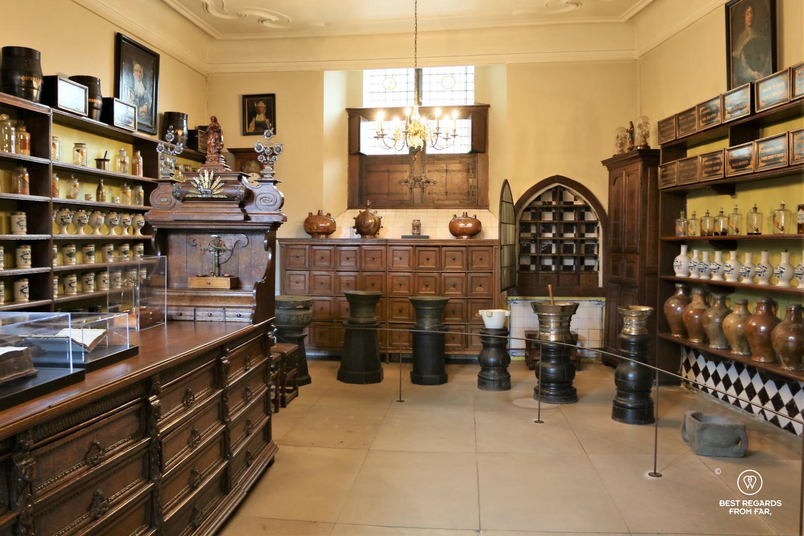 The pharmacy of the Saint John's Hospital, Bruges.