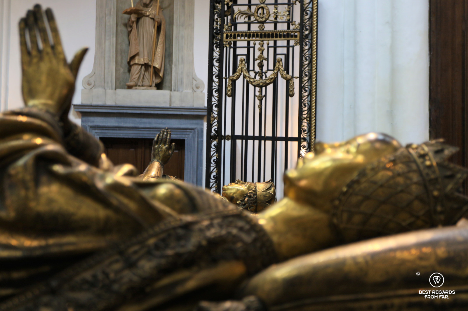 The resting place of Marguerite de Bourgogne, The Church of Our Lady, Bruges, Belgium