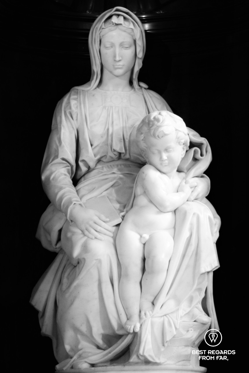 The Madonna of Bruges by Michelangelo in the Church of Our Lady, Belgium