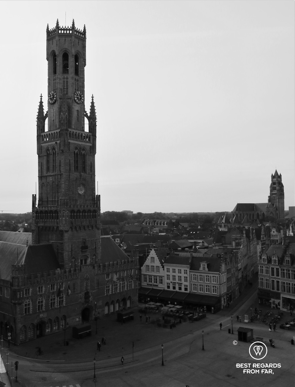 The medieval Belfry of Bruges on the Market Square, Belgium
