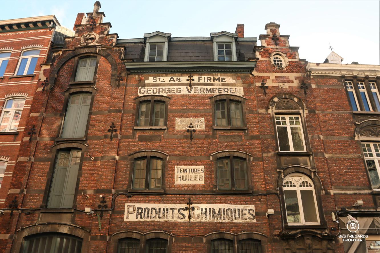 Characteristic facade in Ghent, Belgium