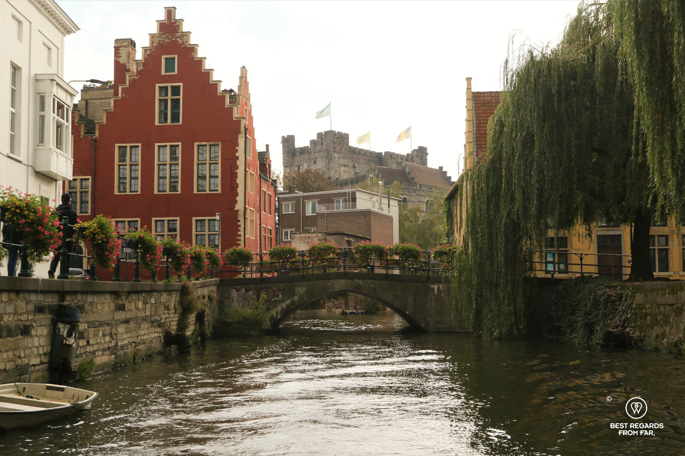 View on Ghent from the canals