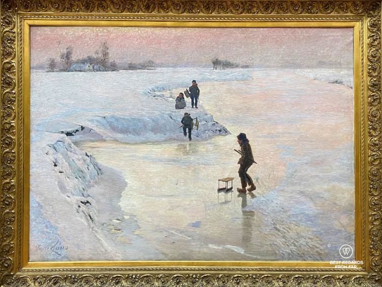 """The famous """"Skaters"""" (Ijsvogels) by Emile Claus at the Museum of Fine Arts, Ghent, Belgium"""