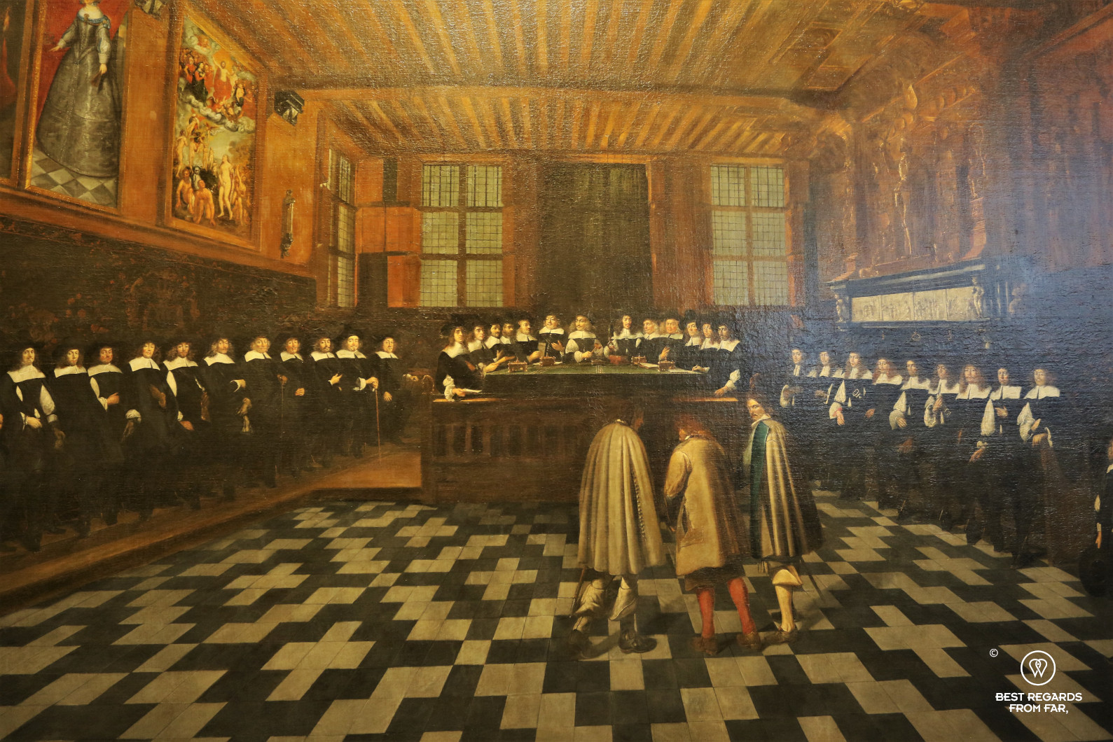 Liberty of Bruges, back then on a historical painting, Belgium
