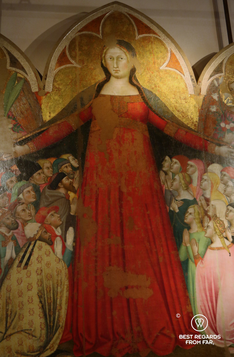 Madonna della Misericordia by Bartolo di Fredi at the Pienza musueum, Italy