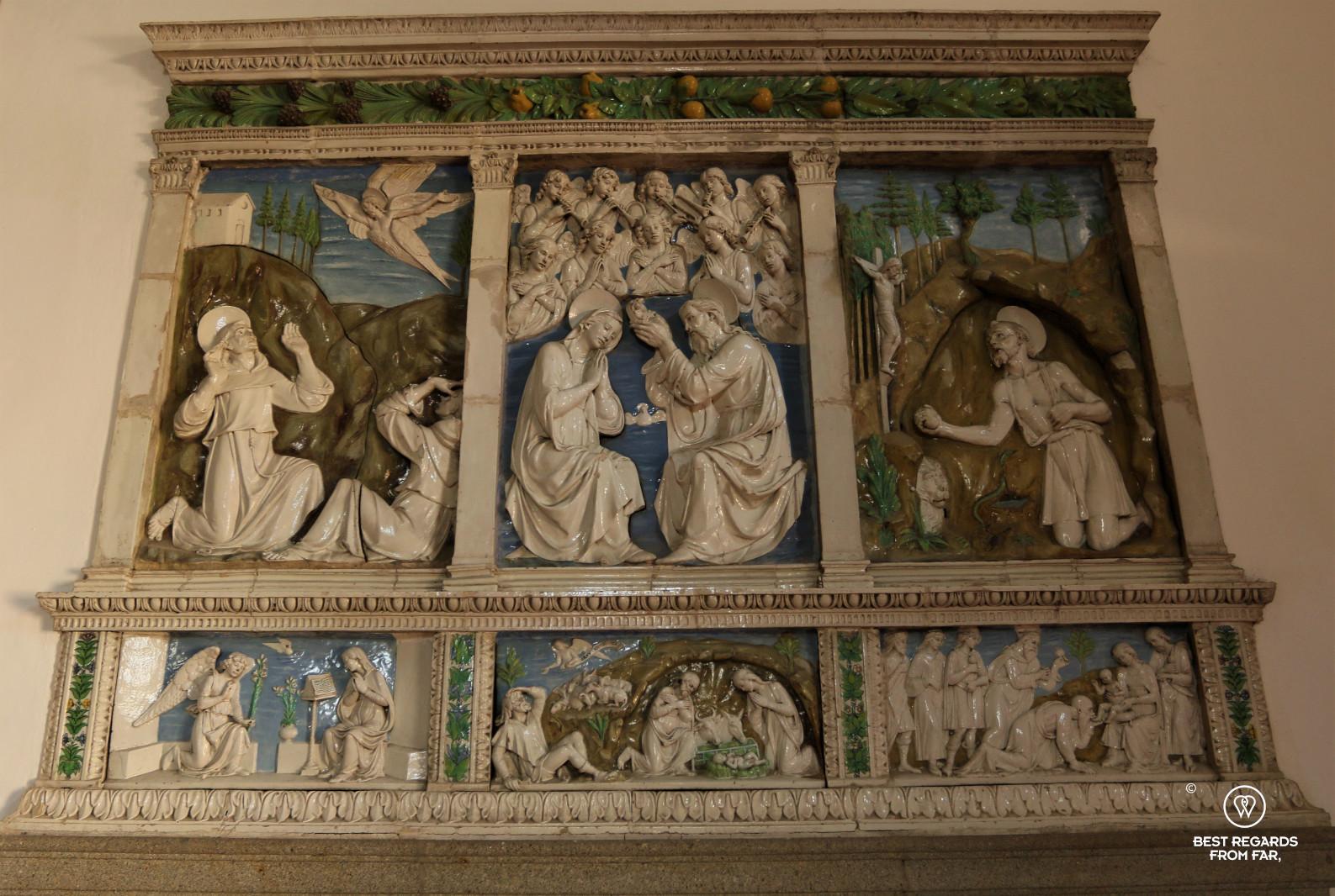 Terracotta art of Santa Fiora, Tuscany, Italy