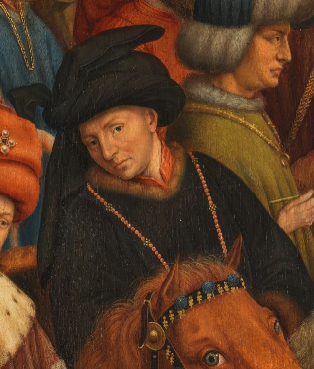 Philip the Good in the Ghent Altarpiece by Jan van Eyck