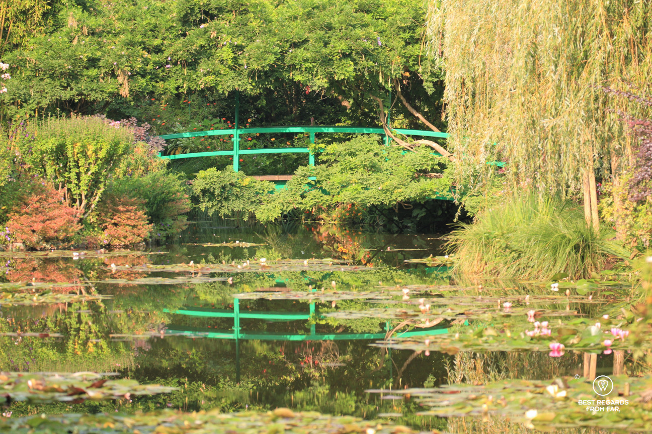The Japanese bridge in Claude Monet's garden in Giverny, France