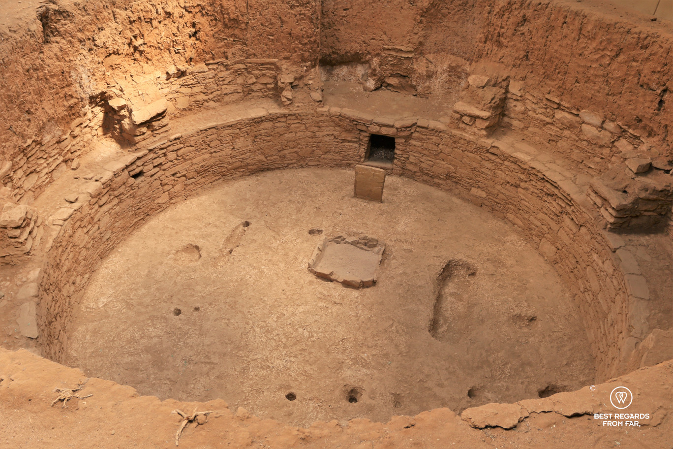 A pit-house in Mesa Verde National Park, Utah, USA