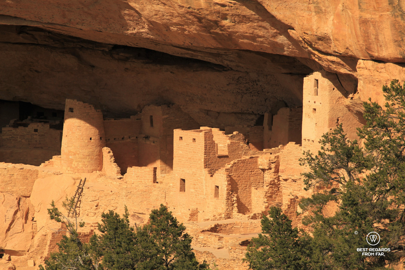 A district of Cliff Palace in Mesa Verde National Park, Utah, USA