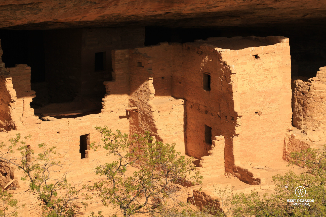 A block of houses of Spruce Tree House in Mesa Verde National Park, Utah, USA