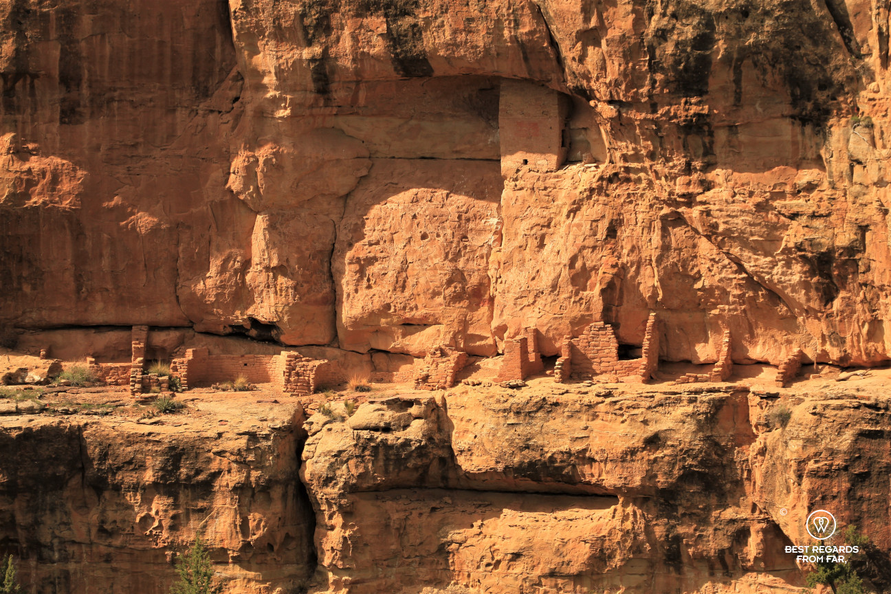 A settlement hugging the cliffs of Mesa Verde National Park, Utah, USA