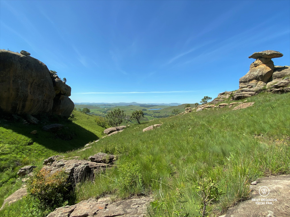 Clarens sandstone rock formations in the Drakensberg, South Africa