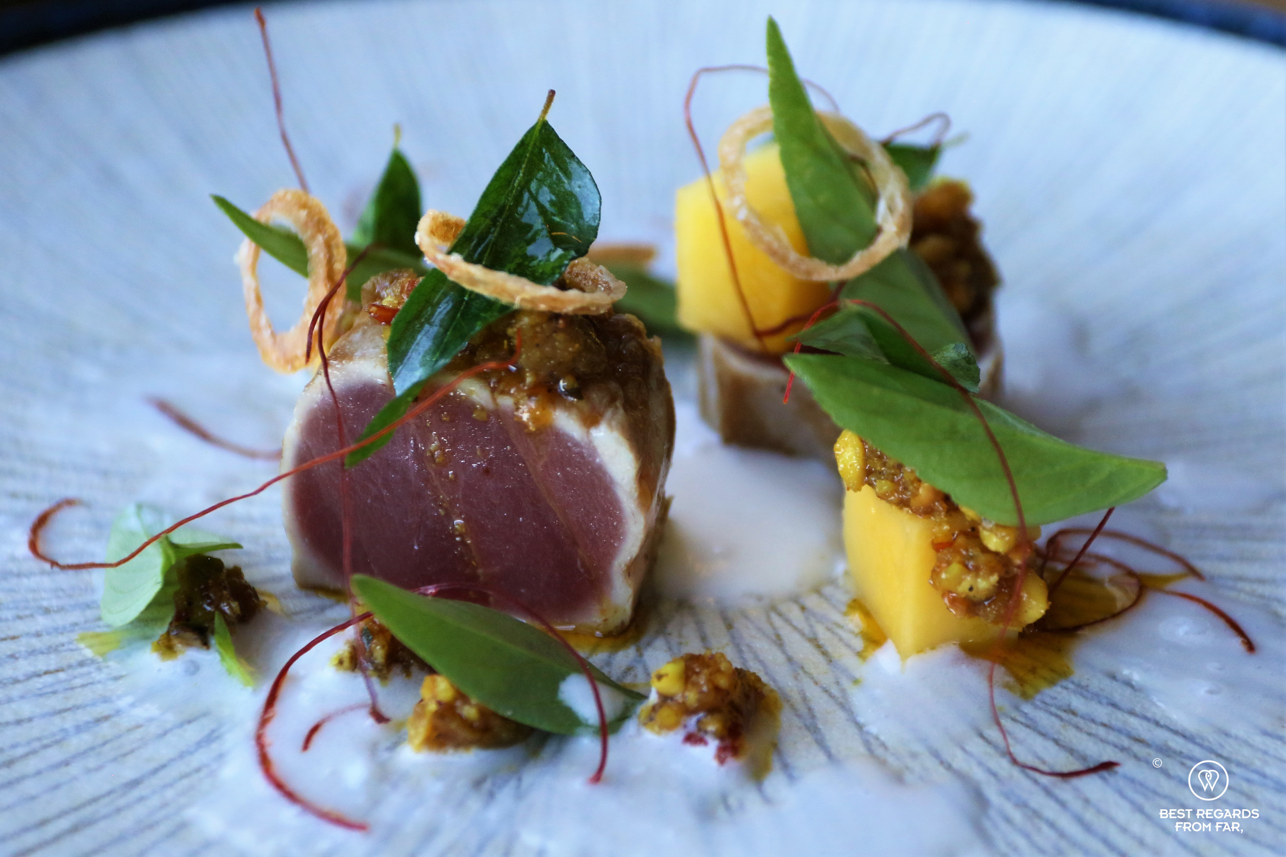 Seared tuna and mango, Chefs Warehouse Beau Constantia